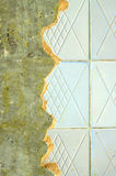 Ceramic tiling on repairing room wall Stock Images