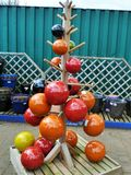 Ceramic tree. Displayed to be sold separately but what an amazing Christmas tree for the garden Royalty Free Stock Photos