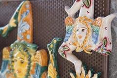 A ceramic trinacria Stock Image