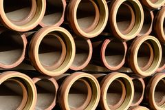 Ceramic tubes Royalty Free Stock Images