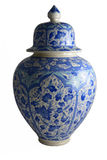 Ceramic vase, çini. Turkey Kütahya tiles. Ceramic vase Royalty Free Stock Photos