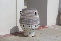 Ceramic vase. Big ceramic vase on the patio Stock Photo