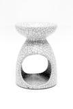 Ceramic vase candle for aroma decoration. Ceramic vase for candel stick of aroma Japanise style or decoration on white background Stock Image