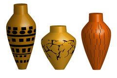 Ceramic vase illustration Royalty Free Stock Photos