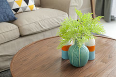 Ceramic vase in living room Royalty Free Stock Photography