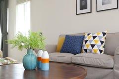 Ceramic vase in living room Stock Photo
