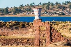 Ceramic vase peruvian Andes Puno Peru Royalty Free Stock Image