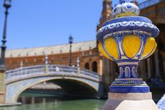 Ceramic vase at Plaza de Espana, Seville, Spain royalty free stock photography