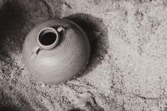 Ceramic vase pot, an Asian traditional culture art handcraft sculpture. Stock Images