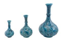 Ceramic vase. Turkey Kutahya çini Gözyaşı vazo. royalty free stock image