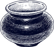 Ceramic vase. Vector drawing of the old ceramic vase Royalty Free Stock Photography