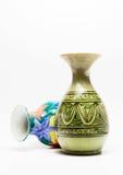 Ceramic vases. Decorative ceramic vases  on white Stock Photo