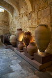 Ceramic vases in the kitchen area of the Inquisitor`s palace, Vi Stock Image