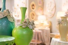 Ceramic vases in vintage interior Stock Images