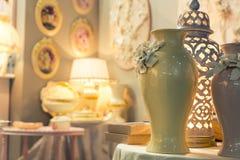 Ceramic vases in vintage interior Royalty Free Stock Photo