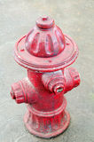 Ceramic Vintage Red Fire Hydrant Stock Image