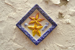 Ceramic wall decoration in the Canarian village Stock Photography