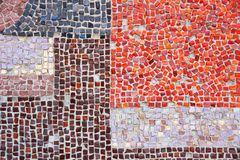 Ceramic wall decoration mosaic closeup Stock Photography