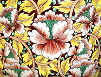 Ceramic wall flower royalty free stock images
