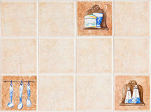 Ceramic wall Stock Photography