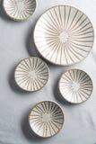 Ceramic Wallpaper. Texture background dish Stock Image