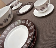 Ceramic ware. Modern and stylish ceramic potery Royalty Free Stock Image