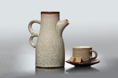 Ceramic ware for coffee Royalty Free Stock Photography