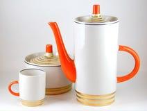 Ceramic ware, coffee or tea set Stock Images