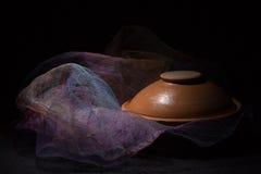 Ceramic ware on a dark background Royalty Free Stock Photos