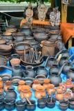Ceramic ware of handwork at fair of national creativity Stock Photography