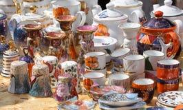 Сeramic ware for sale Stock Photos