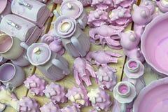 Ceramic ware under production Stock Image
