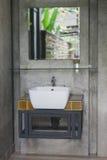 Ceramic wash basin and faucet Royalty Free Stock Photo