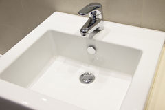Ceramic washbasin Royalty Free Stock Images