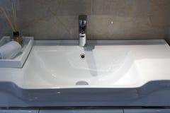 Ceramic washbasin Royalty Free Stock Images