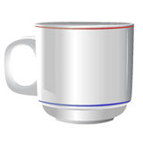 Ceramic white cup on white background. Isolated cup for  Branding and Corporate Identity Stock Photo