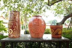 Ceramica delle terraglie dell'argilla fotografia stock