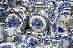 Ceramica piega di art. articoli per la tavola Fotografia Stock