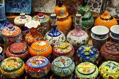Ceramica su visualizzazione Costantinopoli, Turchia Immagini Stock Libere da Diritti