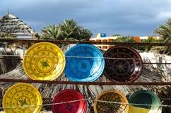 Ceramica tradizionale di Tunisi, Djerba, il 7 novembre 2014 Fotografie Stock