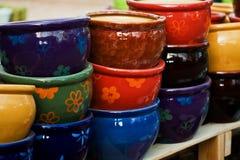 Ceramica variopinta Fotografie Stock Libere da Diritti