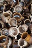 Ceramics. Mass of the ceramics pots Royalty Free Stock Photos