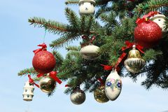 Ceramics baubles Royalty Free Stock Images