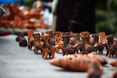 Ceramics. Ceramic toys on the festival Stock Images