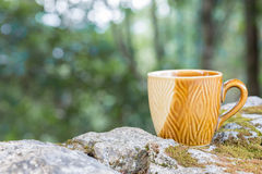 Ceramics coffee cup. Stock Photography