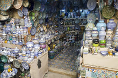 Ceramics on display Fes Morocco Stock Image