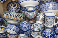 Ceramics on display Fes Morocco Stock Images