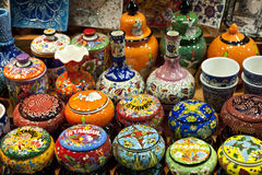 Ceramics on display Istanbul, Turkey Royalty Free Stock Images
