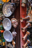 Ceramics displayed for sale in medina of Fez, Morocco Royalty Free Stock Image