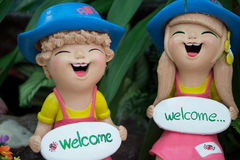 Ceramics dolls Stock Photo